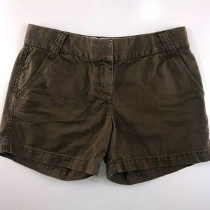 J.Crew City Fit Classic Twill Chino Shorts  CT01